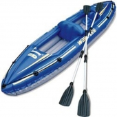 "Лодка Wave Line Kayak Set 142""""х30"""" 360х76см,+алюмин.весла (65020В) (1)"" / BESTWAY"